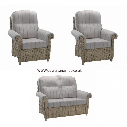 Desser Harlow 2 Seater Suite comprises 2 seater sofa + 2 armchairs