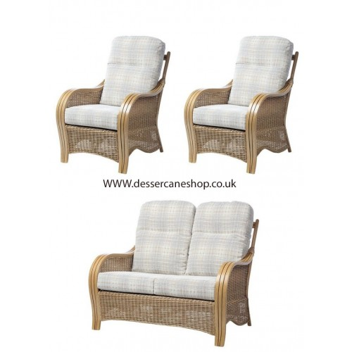 Desser Turin 2 Seater Suite comprises 2 seater sofa + 2 chairs