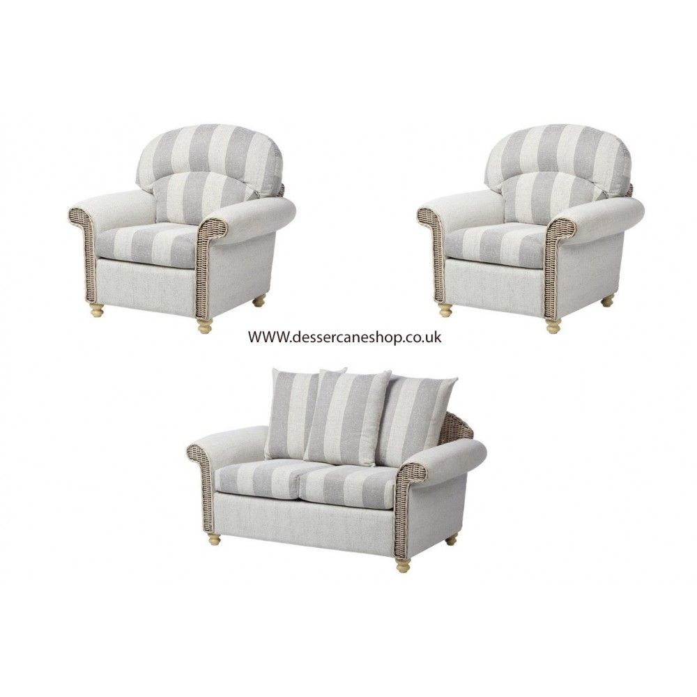 Desser Stamford Scatter Back 2 seater suite comprises 2 seater + armchairs