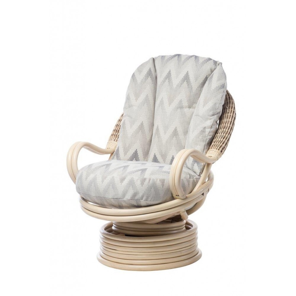 Desser Deluxe Swivel Rocking Chair (Natural Wash)