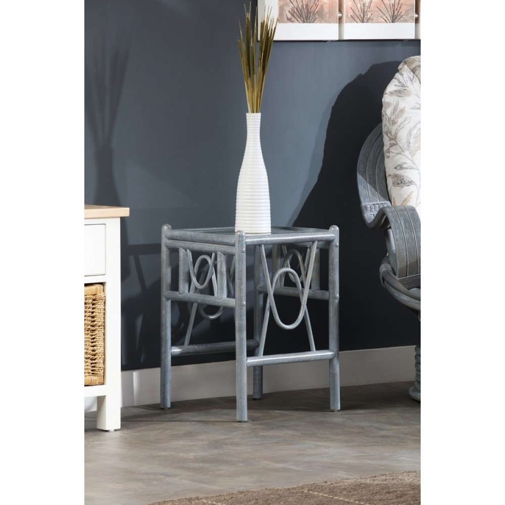 Desser Bali Lamp Table Grey Finish