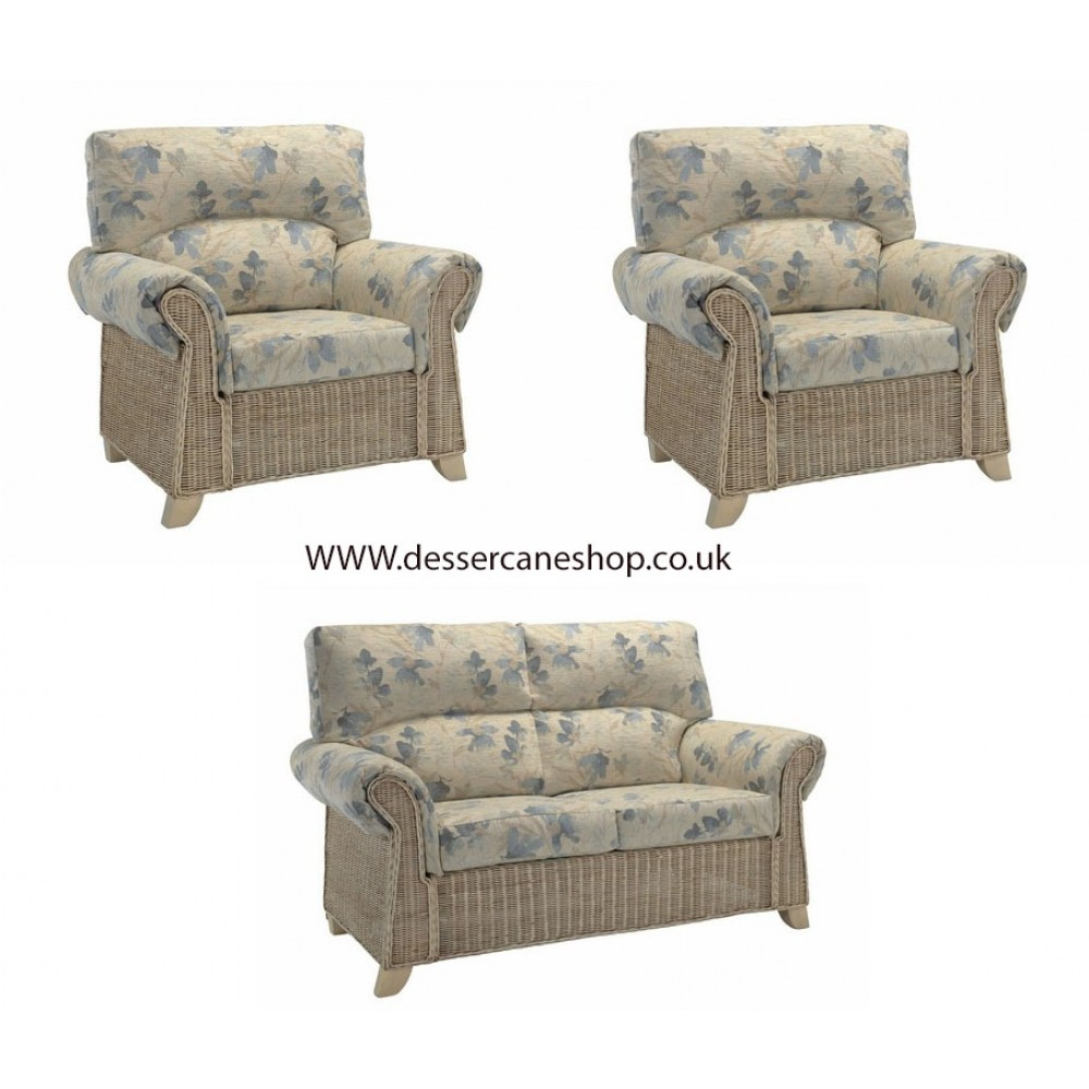 The Dessr Clifton 2 Seater Suite comprises 1 x 2 seater sofa + 2 armchairs