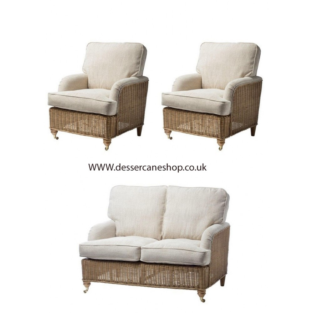 Desser Seville 2 Seater Suite comprises 2 seater sofa + 2 armchairs
