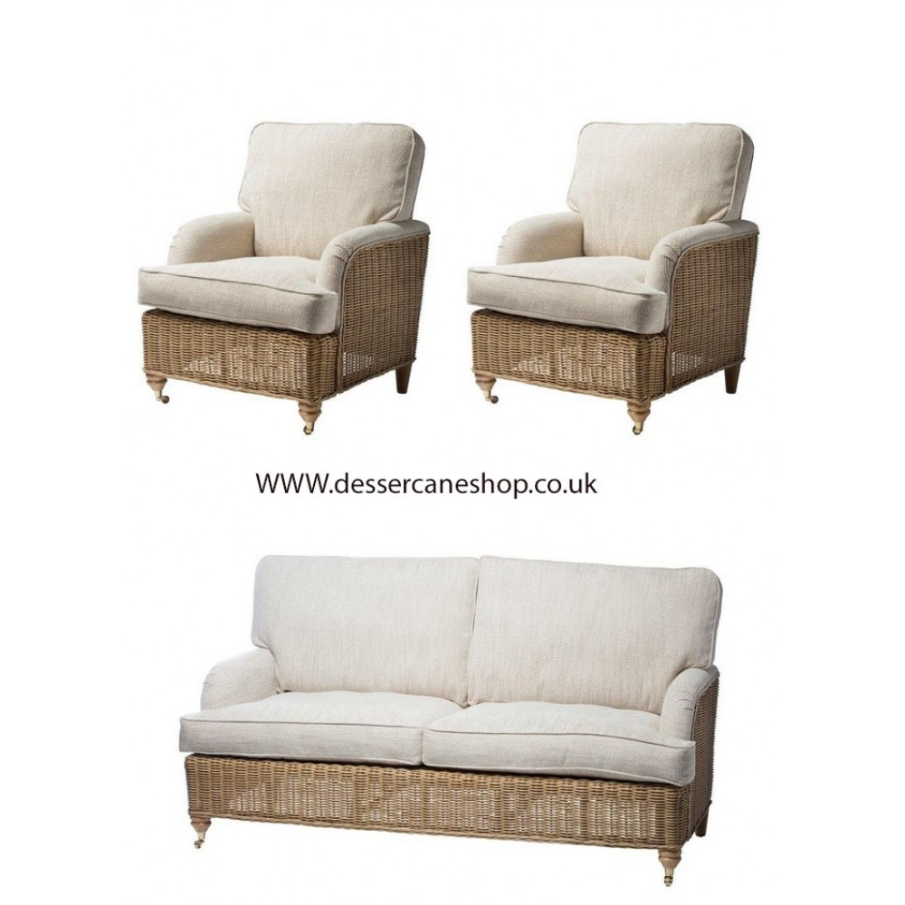 Desser Seville 3 Seater Suite comprises 3 seater sofa + 2 armchairs