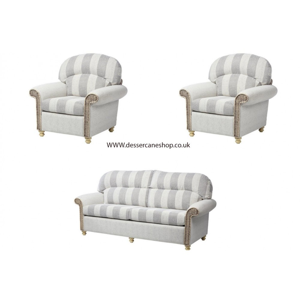 Desser Stamford 3 Seater Sofa & 2 Chairs Suite (Traditional Back)