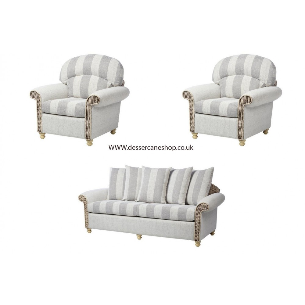 Desser Stamford 3 Seater Sofa & 2 Chairs Suite (Scatter Back)