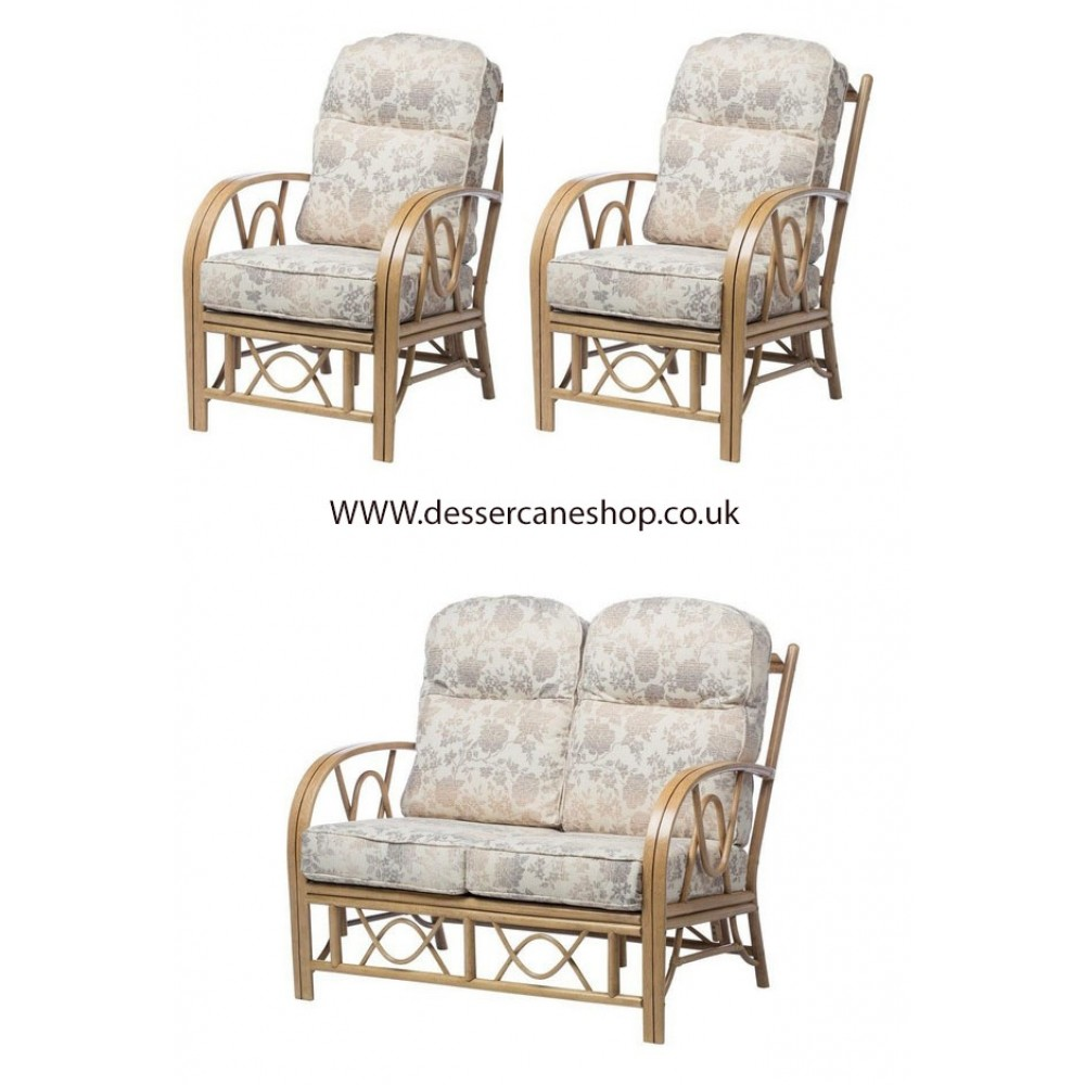 Desser Bali 2 Seater Sofa & 2 Chairs Suite